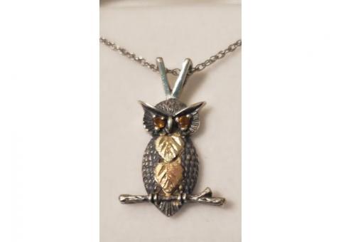 Owl Necklace **NEW** Black Hills Gold